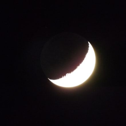 The moon, Fujifilm FinePix S3400
