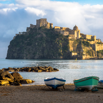 Aragonese Castle in late, Canon EOS 7D, Canon EF-S 15-85mm f/3.5-5.6 IS USM