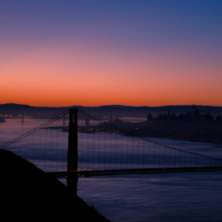 Golden Gate Dawn, RICOH PENTAX K-S2, smc PENTAX-DA L 18-50mm F4-5.6 DC WR RE