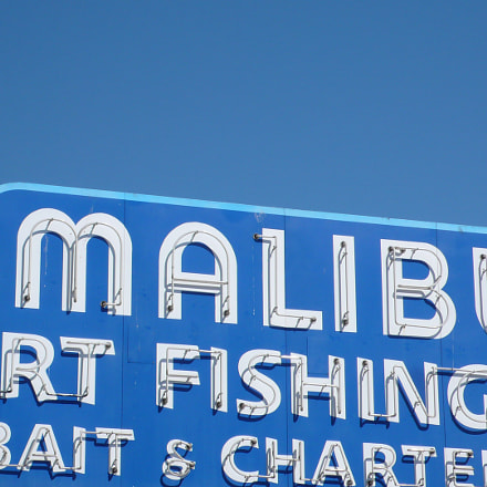 Malibu pier sign, Panasonic DMC-LX2