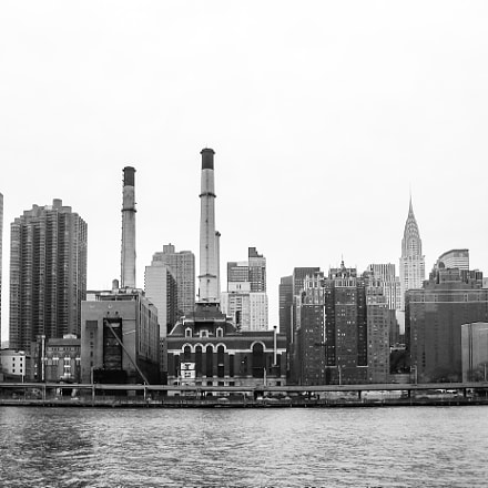 East River Skyline in, Canon POWERSHOT S50