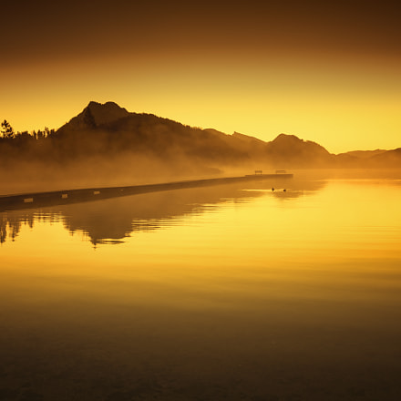 Golden morning on lake Fuschl