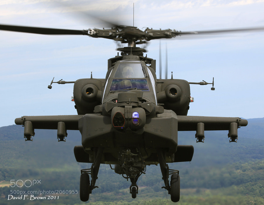 Business end of the AH-64D Apache helicopter.
