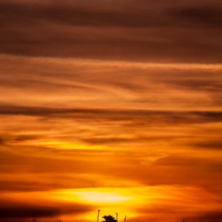 fire sky, Canon EOS 7D, Canon EF 75-300mm f/4-5.6 IS USM