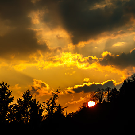 Sunset in Vinay (France), Canon EOS 760D, Canon EF 24-85mm f/3.5-4.5 USM