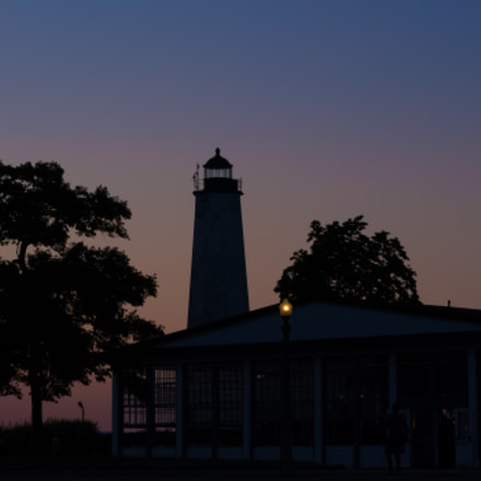 Lighthouse At Sunset, Panasonic DMC-GH2