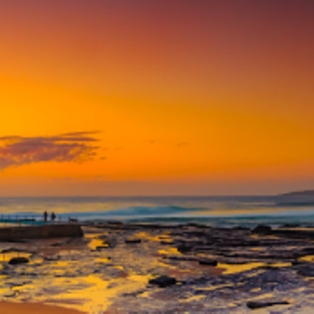 Panoramic of North Narrabeen, Canon EOS 700D