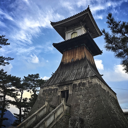 Kotohira tower, Shikoku, Japan, Apple iPhone 6s, iPhone 6s back camera 4.15mm f/2.2