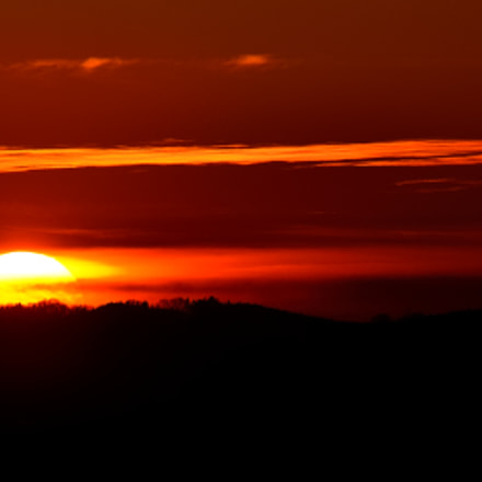 sunset, Nikon D7000, Sigma APO 100-300mm F4 EX IF HSM