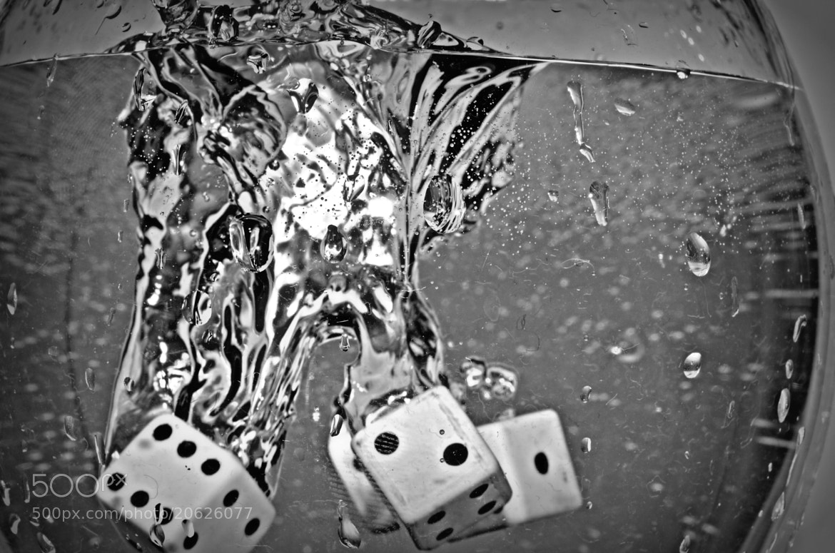 Photograph Dices, water and a cup. by Sergio Nuñez on 500px