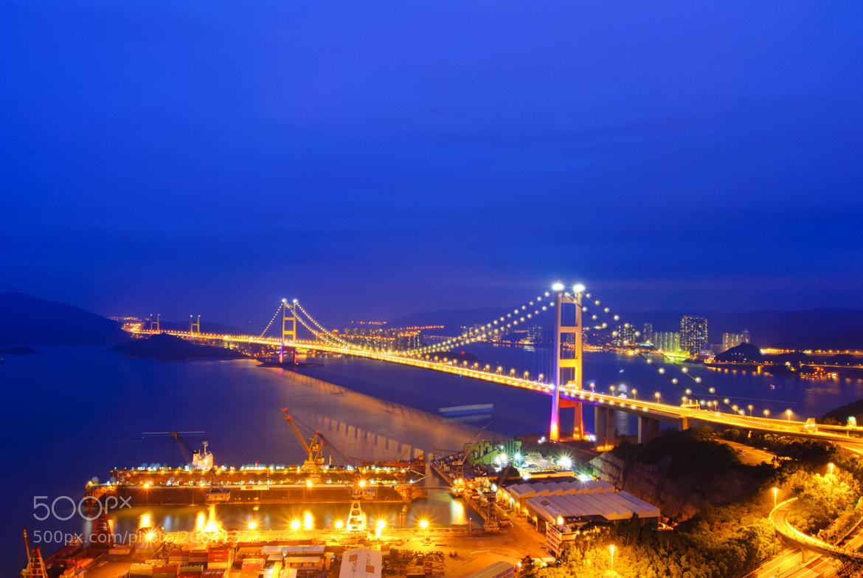 Photograph Tsing Ma Bridge (Night) by Hei Yu on 500px