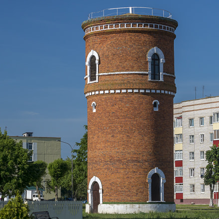 The water tower in the town of Bykhov, Mogilev reg