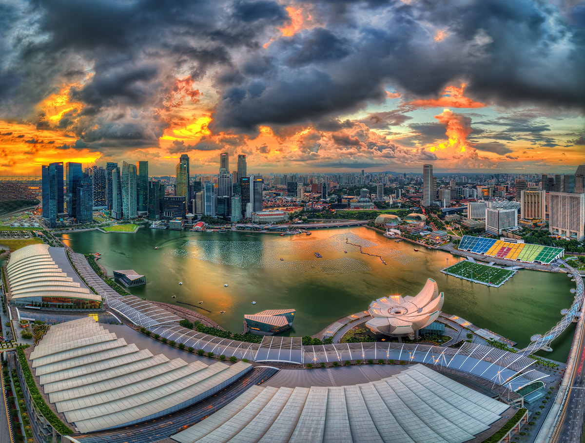 Photograph Bird-eye view from MBS (Singapore) Skypark by Partha Roy on 500px
