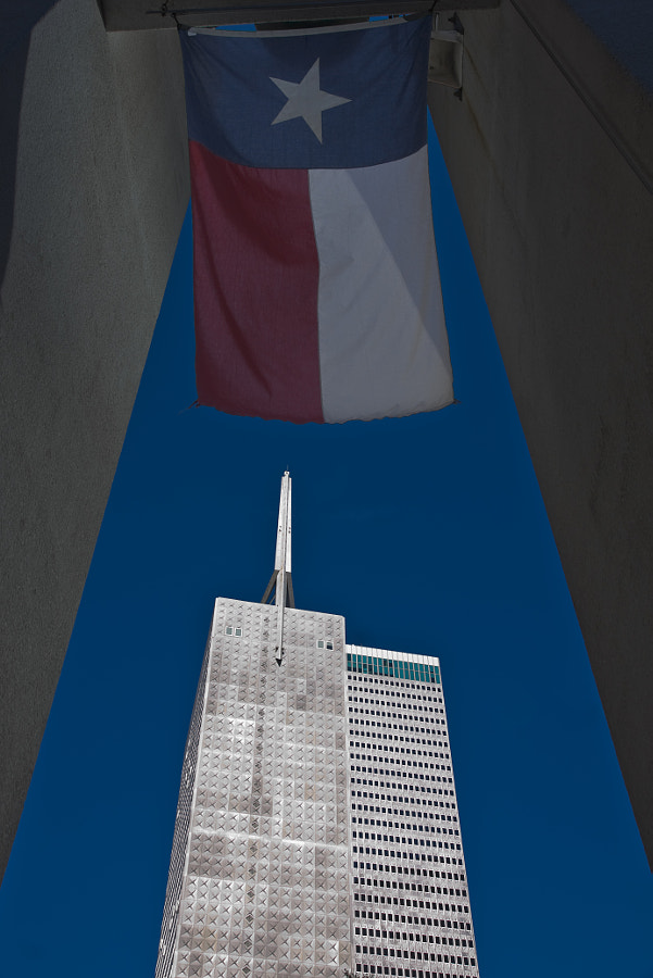 Image taken from Thanksgiving square in downtown Dallas.