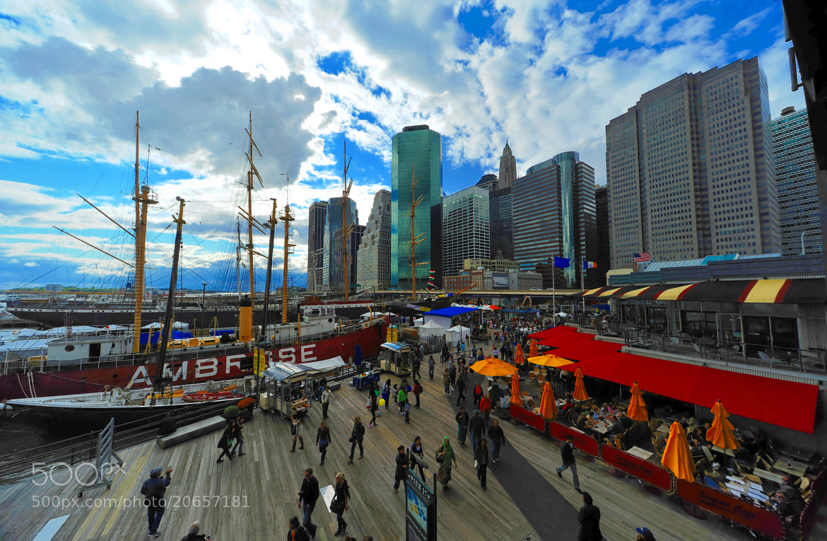 Photograph Pier 17 - South Street Seaport - New York City by Michael FRANCHITTI on 500px