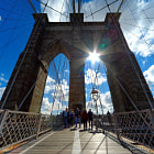 Постер, плакат: The Brooklyn Bridge National Historic Landmark