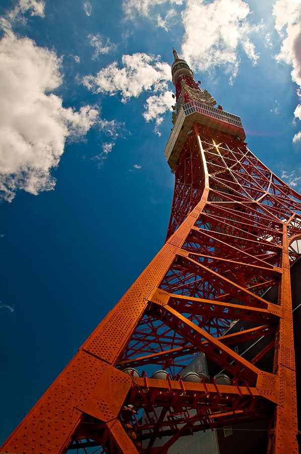 Photograph Tokyo Tower - Up and away! by Richard Brown on 500px