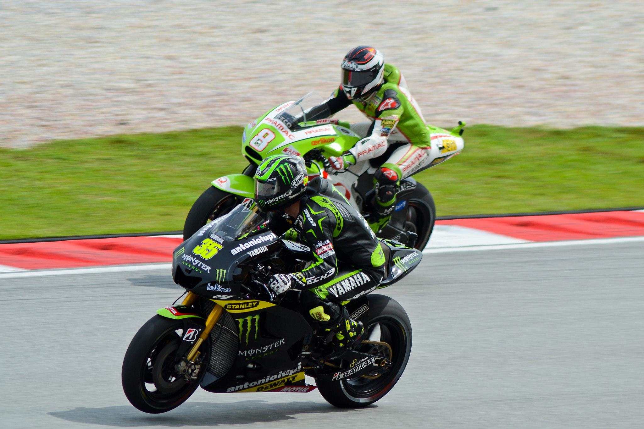 Photograph Hector Barbera and Cal Crutchlow by Mohd Hisyam Saleh on 500px