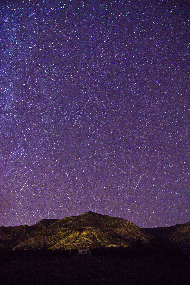 Photograph Three Meteors by Zach Becker on 500px