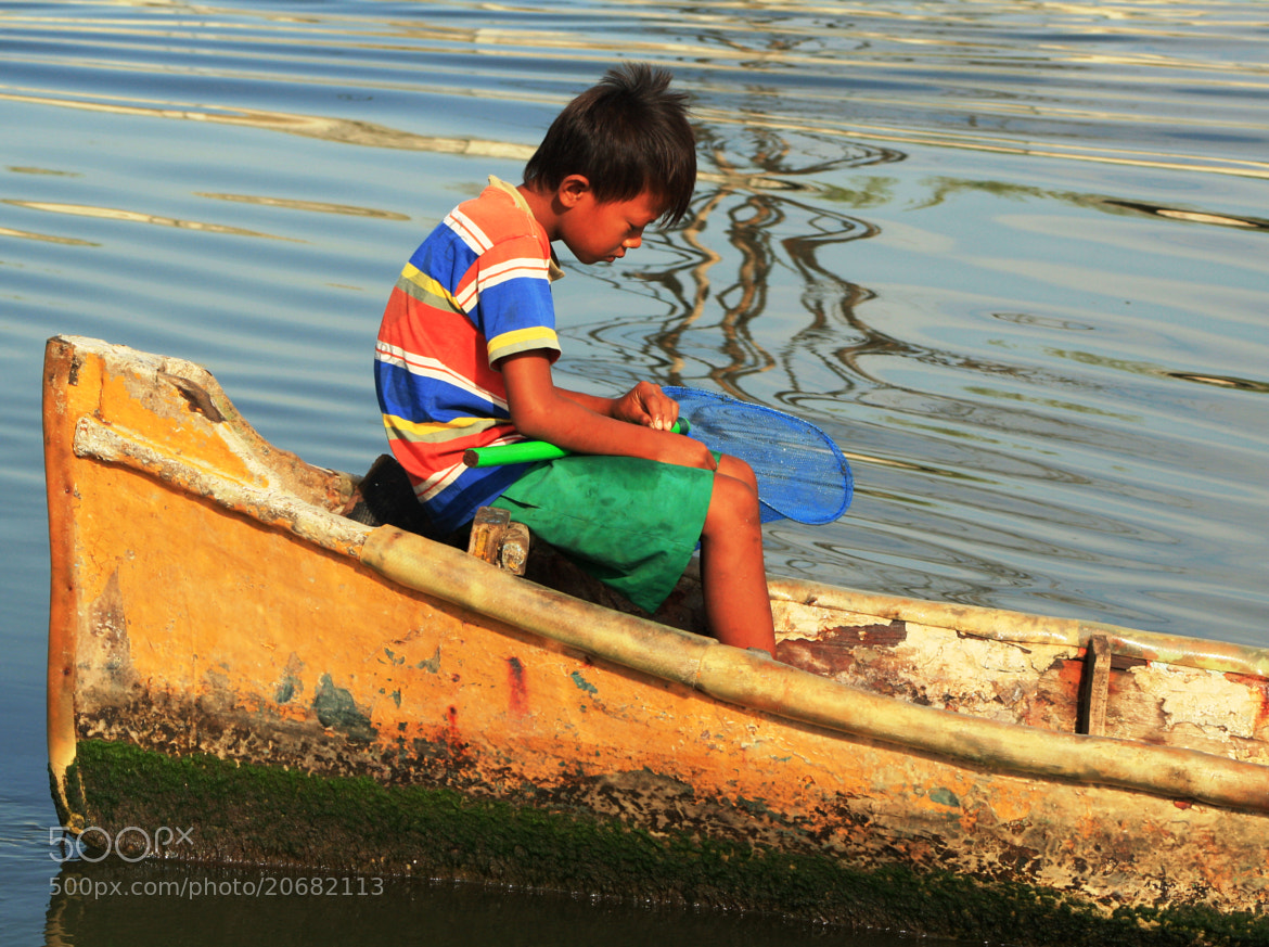 Photograph Child and River by Cristian Medina on 500px