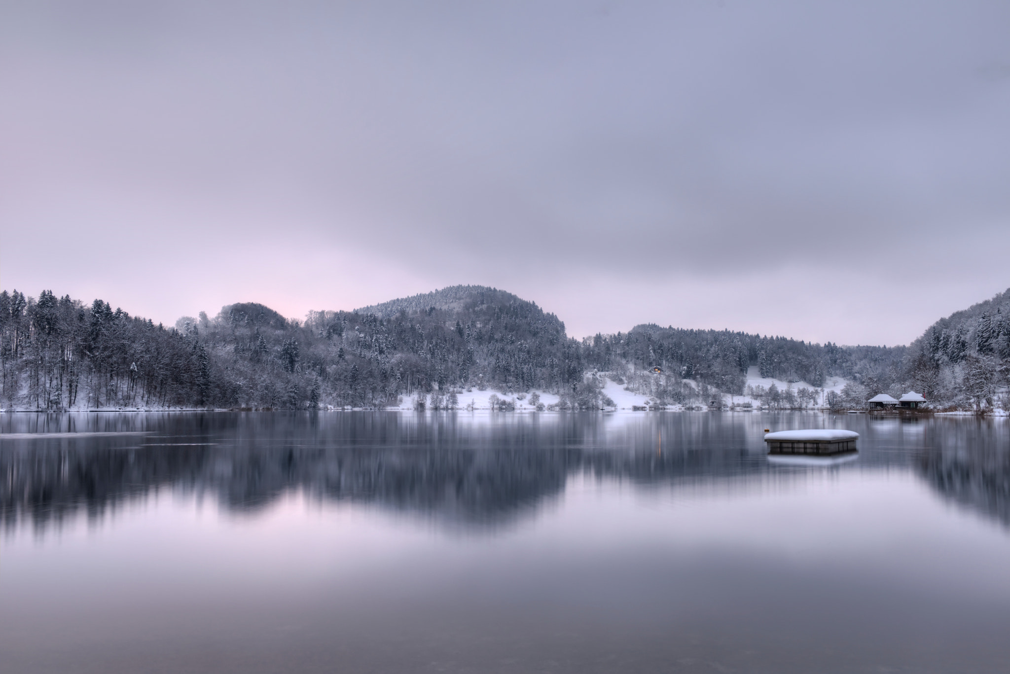 Photograph Blue Hour at Türlersee by Daniel J Mueller on 500px