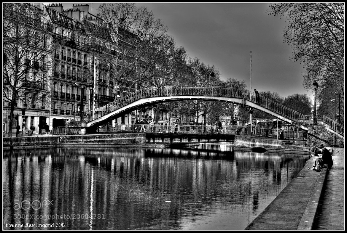 Photograph Le canal Saint Martin à Paris by corinne Lesclingand on 500px