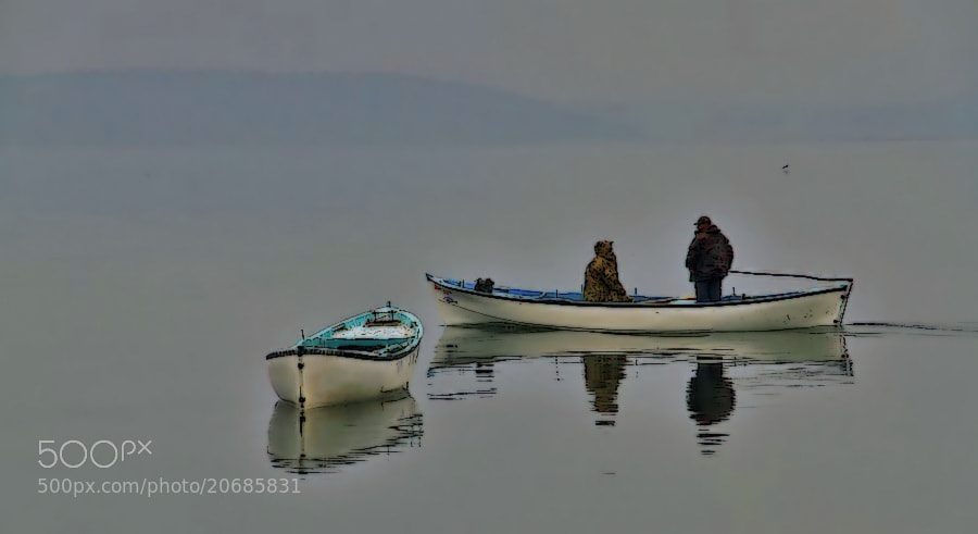 "Photograph ""fog&lake-fishermen"" by engin erol on 500px"