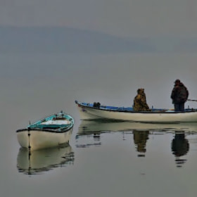 """fog&lake-fishermen"" by engin erol (shark023)) on 500px.com"