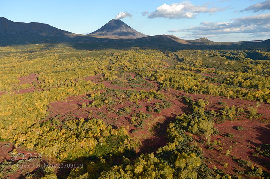 Photograph Karymsky volcano in fall. by Igor Shpilenok on 500px