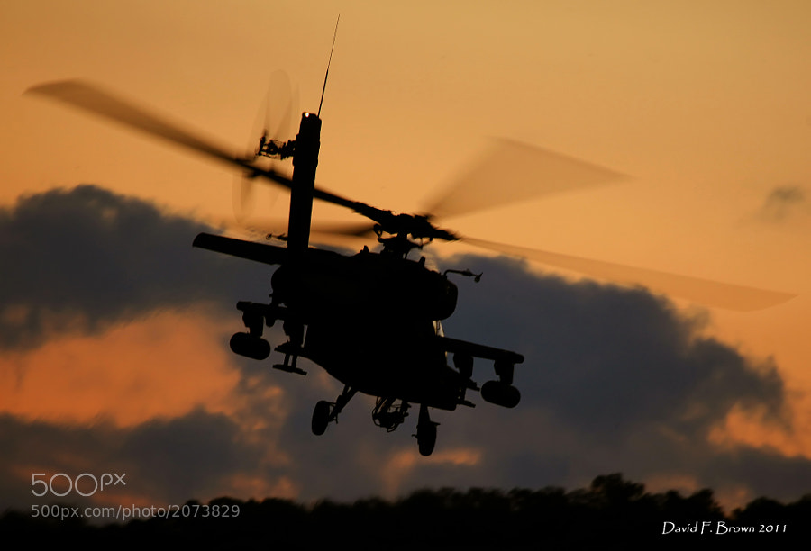 AH-64D Apache, assigned to the Pennsylvania Army National Guard leaves the FARP for homeplate.