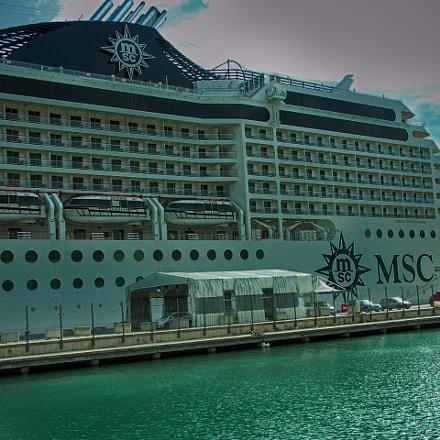 MSC Musica Cruiseship in Valletta, Malta