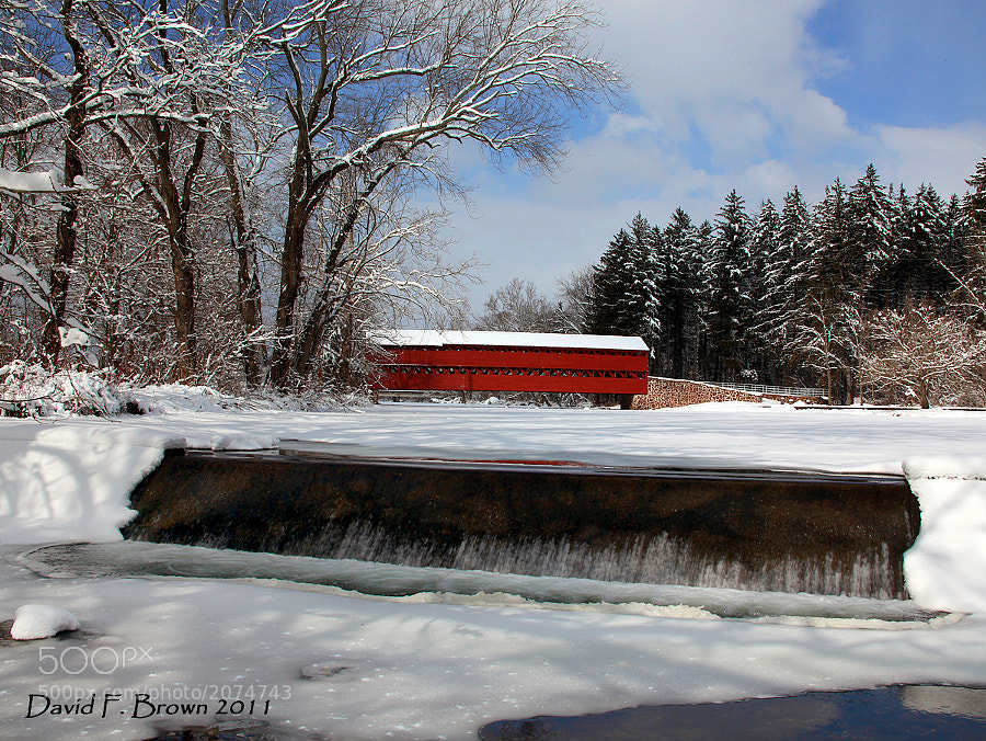 I love Covered Bridges and always stop to photograph them whenever and where ever I see one.  This example is just west of Gettysburg, PA.  Built around 1854, Sachs bridge was used during the Battle of Gettysburg, by both Union and Confederate Troops, before and after the battle.