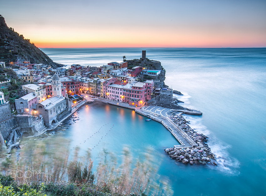 Photograph First light in Vernazza by SysaWorld Roberto Moiola on 500px