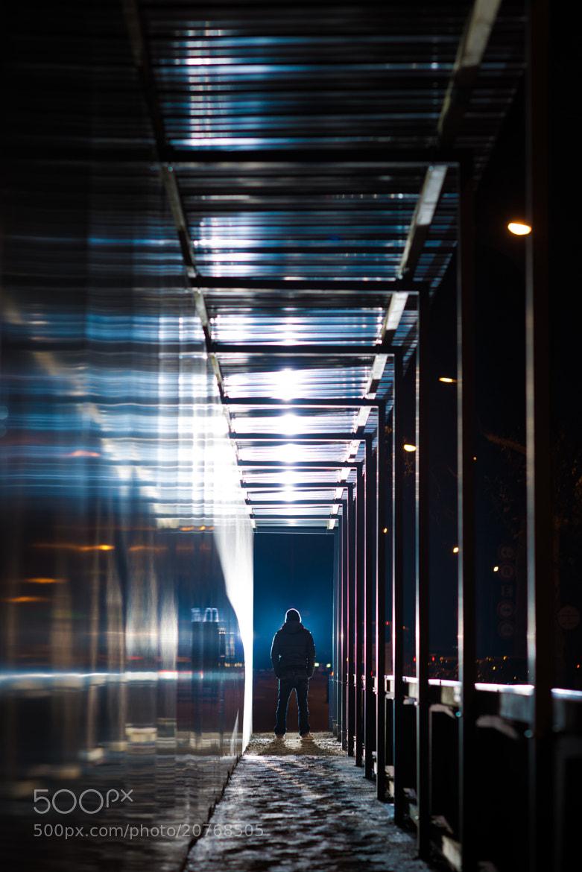 Photograph Blue corridor  by Damien Bapst on 500px