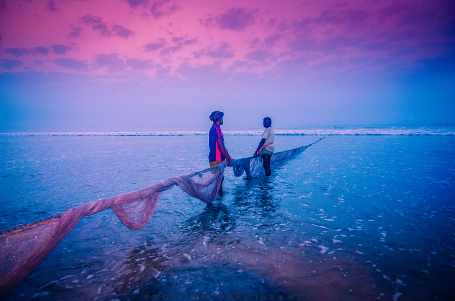 Blue hour fishermen, автор — jayanta basu на 500px.com