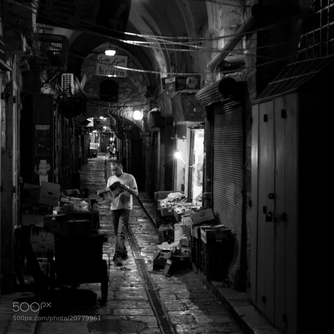 Photograph Man in the Alley by Adam Griffith on 500px