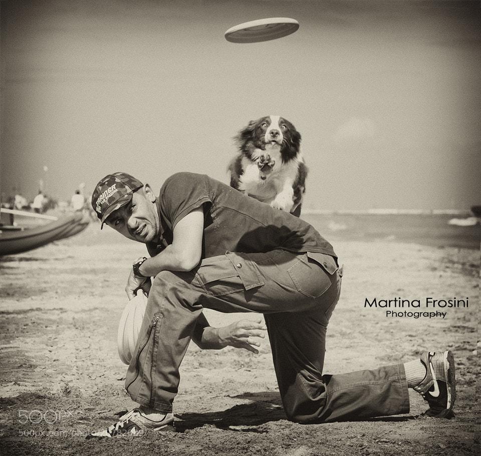 Photograph Frisbee Dog by Martina Frosini on 500px