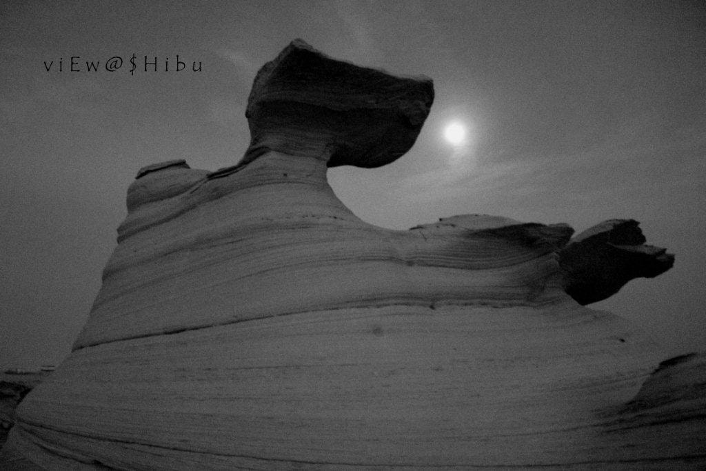 Photograph rock formation@night view with moon by shibu hasan on 500px