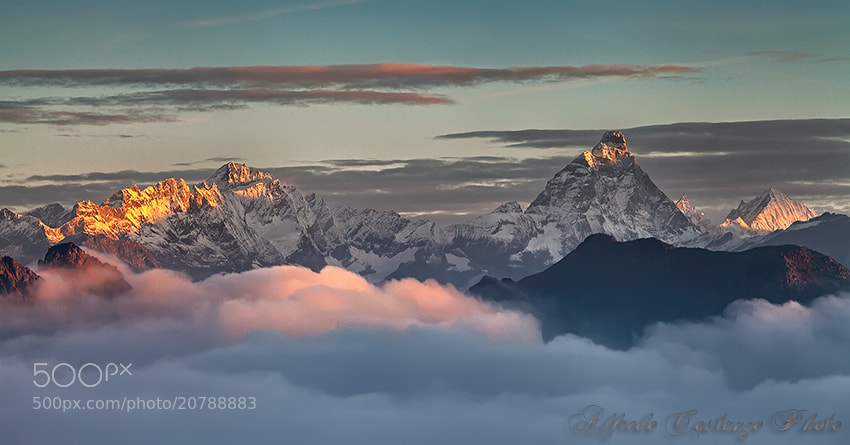 Photograph The Giants emerge from the clouds by Alfredo Costanzo on 500px
