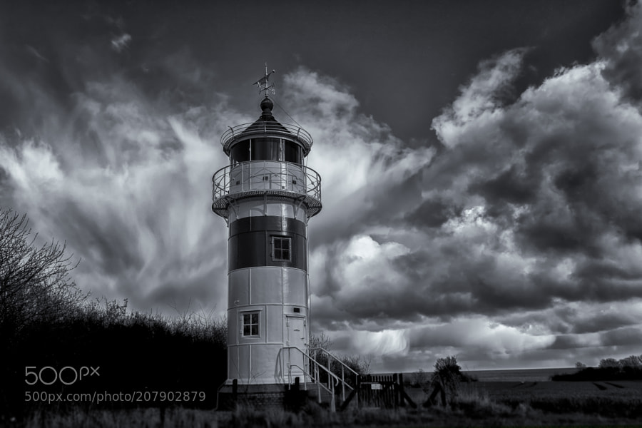 Lighthouse in the countryside