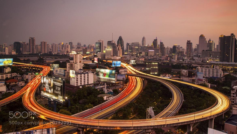 Photograph Bangkok city night view by Anek S on 500px