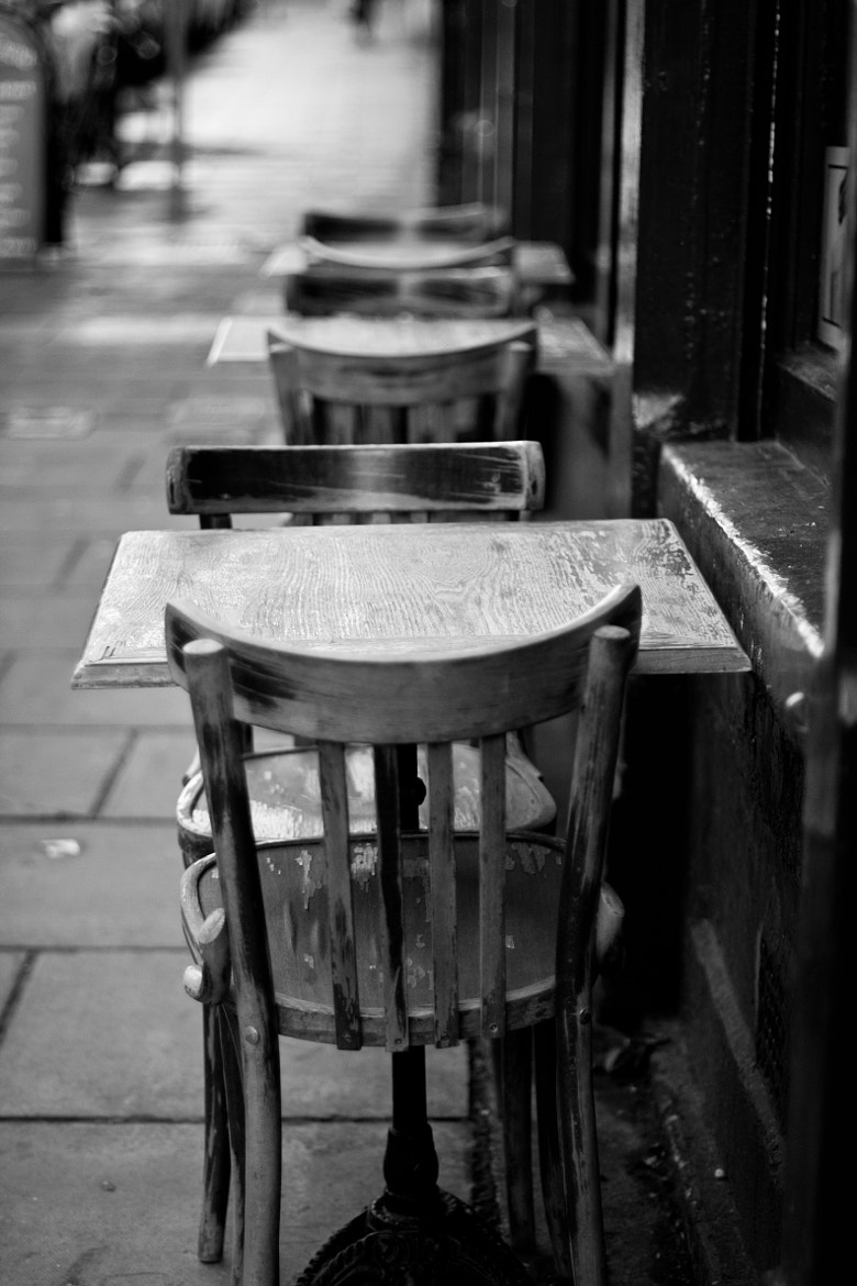 Photograph Empty chairs at empty tables by Monika Putelbergier on 500px