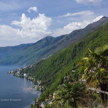 Ticino - Ronco sopra Ascona over Lago Maggiore