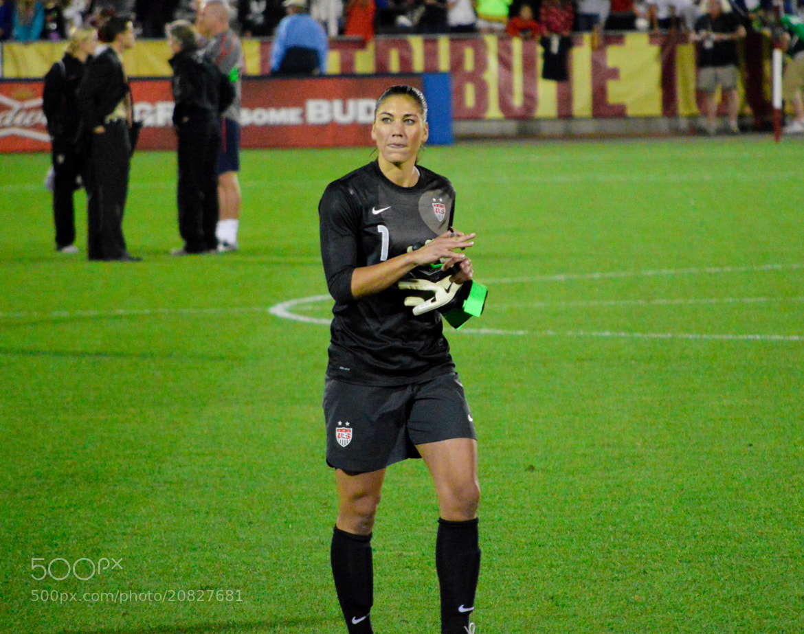 Photograph Hope Solo, Coming to Sign Autographs by Kim McAuliffe on 500px