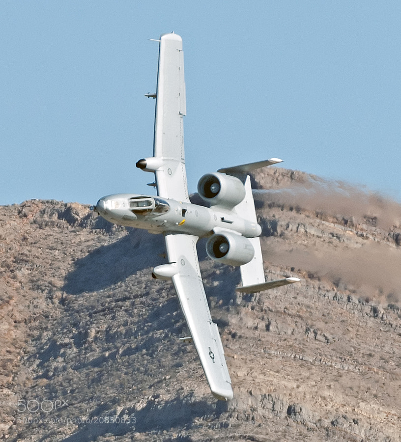 An A-10 Warthog turns and heads in for the kill.
