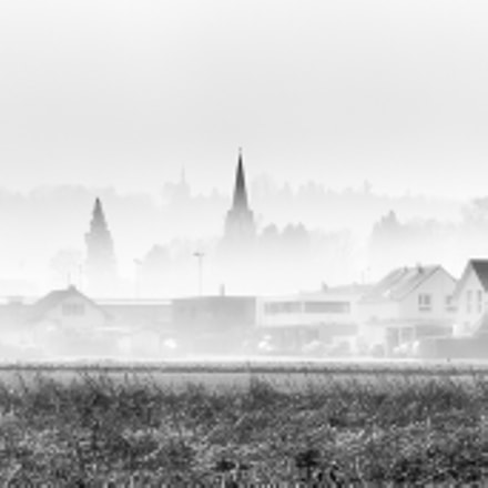 a village in the mist