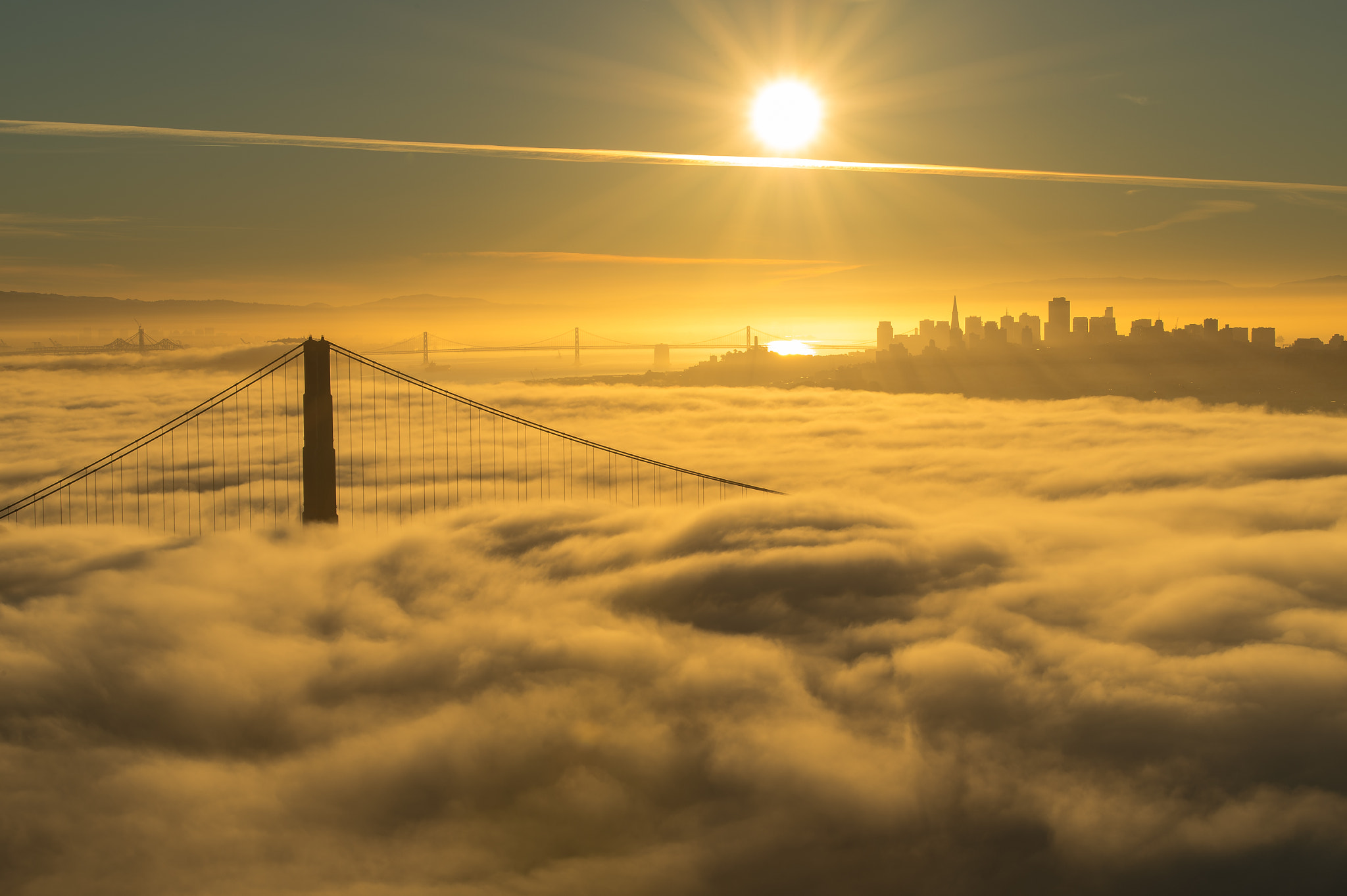 Photograph Sunrise over the Golden Gate during golden hour by Todd Draper on 500px