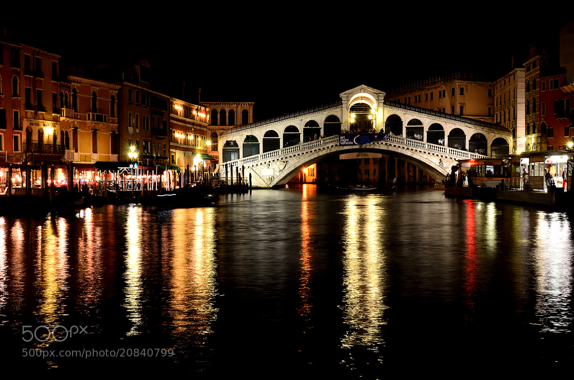 Photograph Rialto Bridge at Night by Csilla Zelko on 500px