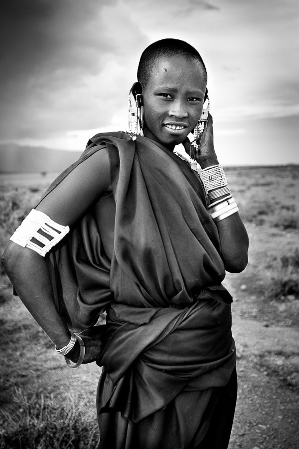 Photograph Masai girl by Radek Borovka on 500px