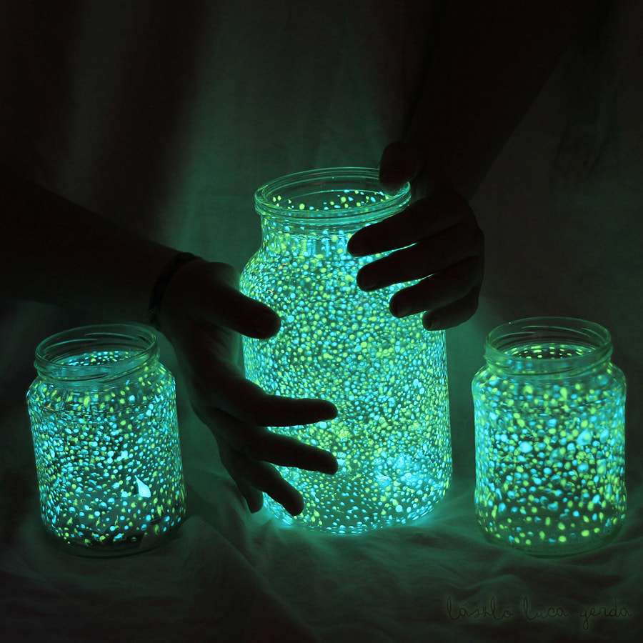 Glow in the Dark Mason Jars -  Photograph Undiscovered Galaxies by Luca Gerda László on 500px